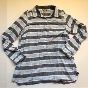 Natural Reflections Striped Size L Large Shirt Top